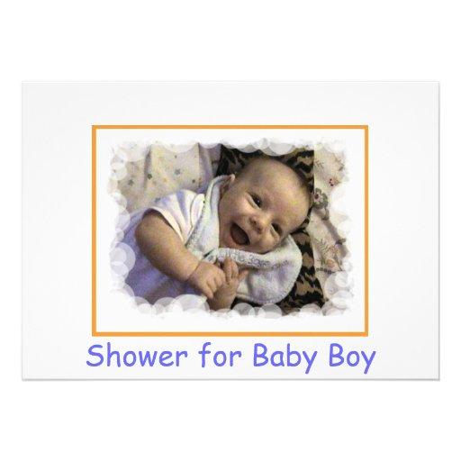 Invitaciones a la fiesta de bienvenida al bebé par anuncio