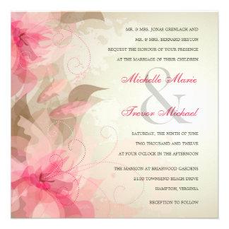 Invitaciones abstractas florales modernas del boda invitacion personalizada