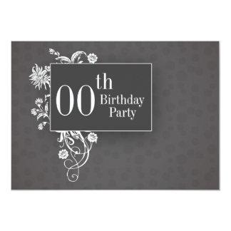 invitaciones adaptables del cumpleaños invitación 12,7 x 17,8 cm