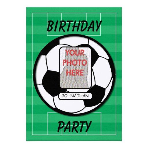 Invitaciones adaptables del fiesta del balón de fú invitacion personalizada