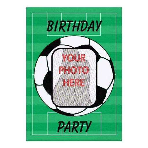 Invitaciones adaptables del fiesta del balón de fú invitación personalizada
