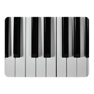 Invitaciones adaptables del teclado de piano invitación 12,7 x 17,8 cm