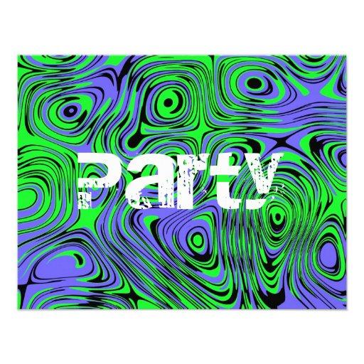Invitaciones adolescentes de la fiesta de cumpleañ invitación
