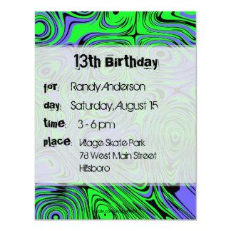 Invitaciones adolescentes de la fiesta de invitación 10,8 x 13,9 cm