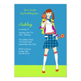 Invitaciones adolescentes del fiesta del chica del invitación 12,7 x 17,8 cm