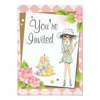 Invitaciones adolescentes elegantes de la fiesta invitación personalizada