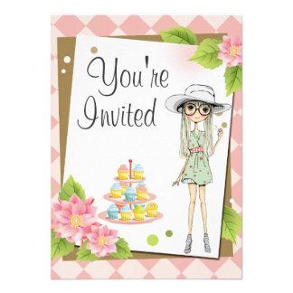 Invitaciones adolescentes elegantes de la fiesta d invitación personalizada