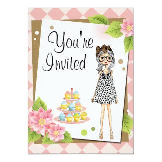 Invitaciones adolescentes elegantes de la fiesta invitación 11,4 x 15,8 cm