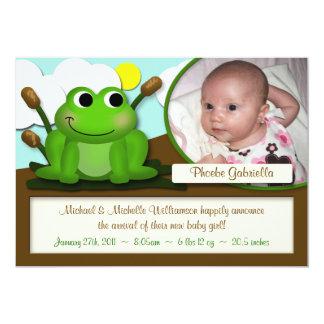 Invitaciones adorables del nacimiento del muchacho invitación 12,7 x 17,8 cm