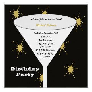 Invitaciones adultas de la fiesta de cumpleaños -
