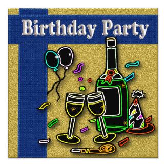 Invitaciones adultas de la fiesta de cumpleaños invitaciones personalizada