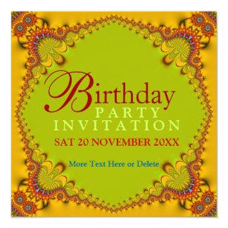 Invitaciones adultas de la fiesta de cumpleaños invitación