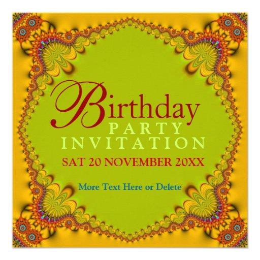 Invitaciones adultas de la fiesta de cumpleaños de invitación