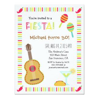 Invitaciones adultas de la fiesta de cumpleaños de invitación 10,8 x 13,9 cm