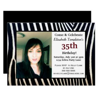 Invitaciones adultas de la foto del cumpleaños del invitación 12,7 x 17,8 cm