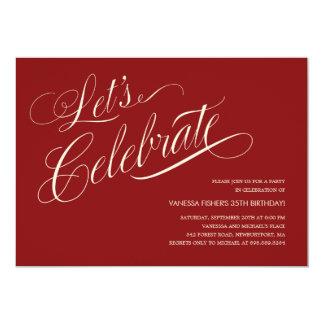 Invitaciones adultas del cumpleaños invitaciones personales