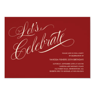 Invitaciones adultas del cumpleaños invitación 12,7 x 17,8 cm