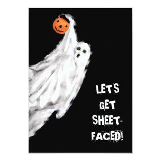 Invitaciones adultas del fiesta de Halloween Invitación 12,7 X 17,8 Cm