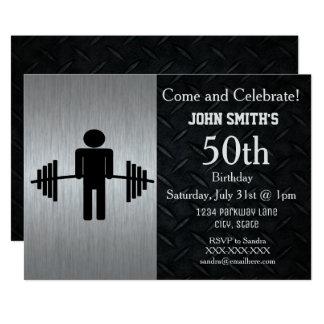 Invitaciones adultas rugosas del cumpleaños del invitación 12,7 x 17,8 cm