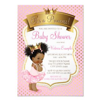 Invitaciones afroamericanas de la princesa fiesta