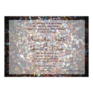 Invitaciones al sudoeste del boda del camuflaje de comunicado personalizado