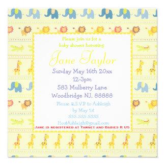 Invitaciones amarillas de la fiesta de bienvenida