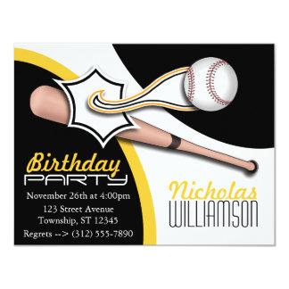 Invitaciones amarillas de moda del cumpleaños del invitación 10,8 x 13,9 cm