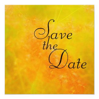 Invitaciones anaranjadas del boda del Wildflower Invitación 13,3 Cm X 13,3cm