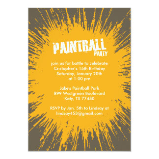 Invitaciones anaranjadas del fiesta de la invitación 12,7 x 17,8 cm
