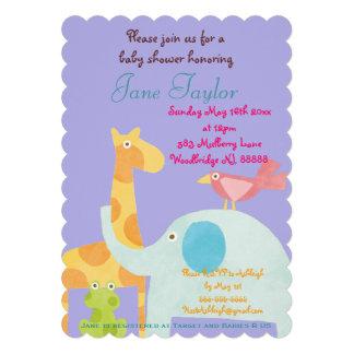 Invitaciones animales de la fiesta de bienvenida invitacion personalizada