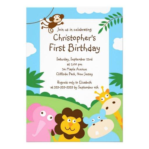 Invitaciónes de cumpleaños con animalitos - Imagui