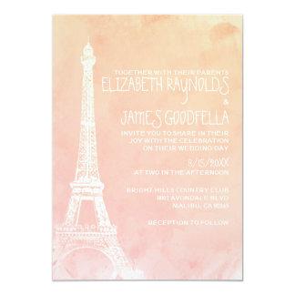 Invitaciones antiguas del boda de París Invitación 12,7 X 17,8 Cm