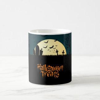Invitaciones asustadizas de Halloween del Taza De Café