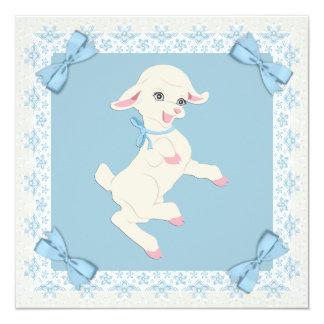 Invitaciones azules de la ducha del bebé del invitación 13,3 cm x 13,3cm