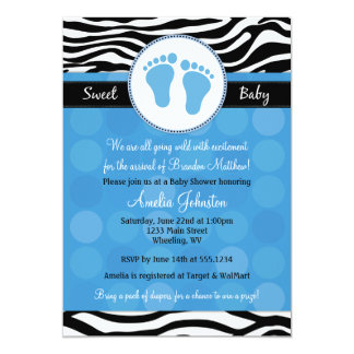 Invitaciones azules de la fiesta de bienvenida al invitación 12,7 x 17,8 cm