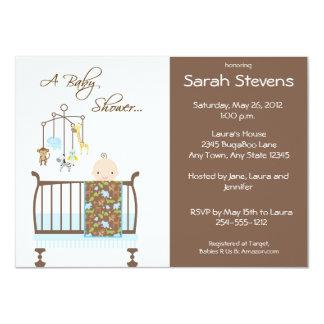 Invitaciones azules de la fiesta de bienvenida al invitación 11,4 x 15,8 cm