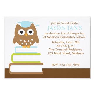 Invitaciones azules de la fiesta de graduación del invitación 12,7 x 17,8 cm