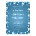 Invitaciones azules de la fiesta de Navidad de la