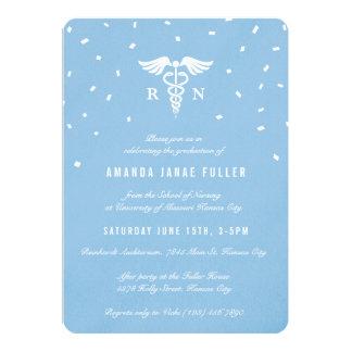Invitaciones azules de la graduación de la invitación 12,7 x 17,8 cm