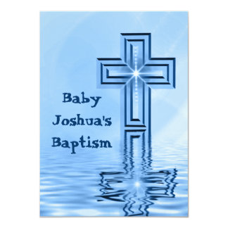 Invitaciones azules del bautizo del bautismo anuncios