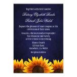 Invitaciones azules del boda del girasol de la comunicados personales