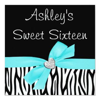 Invitaciones azules del dulce 16 del diamante del invitación 13,3 cm x 13,3cm