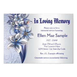 Invitaciones azules elegantes de la ceremonia