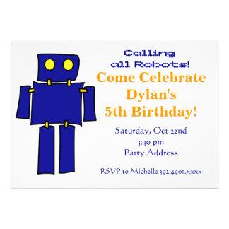 Invitaciones azules frescas de la fiesta de cumple