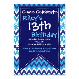 Invitaciones azules modernas de la fiesta de invitación 11,4 x 15,8 cm
