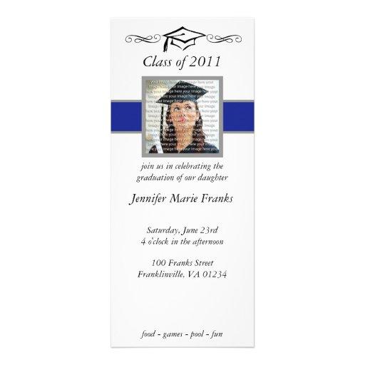 Invitaciones azules, negras y de plata de la gradu anuncio