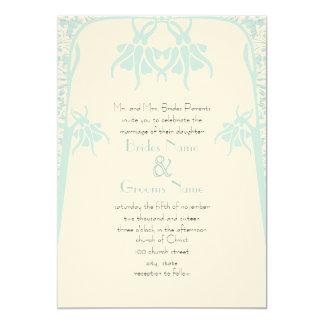 Invitaciones azules polvorientas cristianas del invitación 12,7 x 17,8 cm