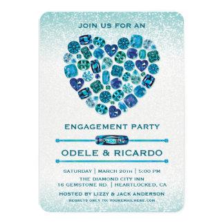 Invitaciones Bejeweled del fiesta de compromiso Invitación 11,4 X 15,8 Cm