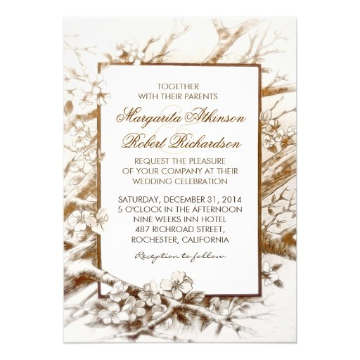 invitaciones blancas florecientes rústicas del bod invitaciones personales
