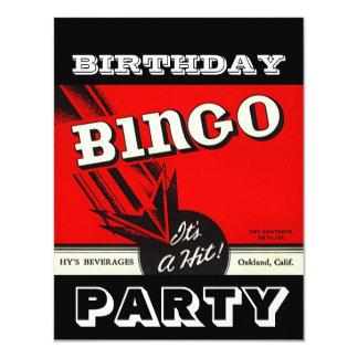 Invitaciones blancas negras rojas del bingo del invitación 10,8 x 13,9 cm